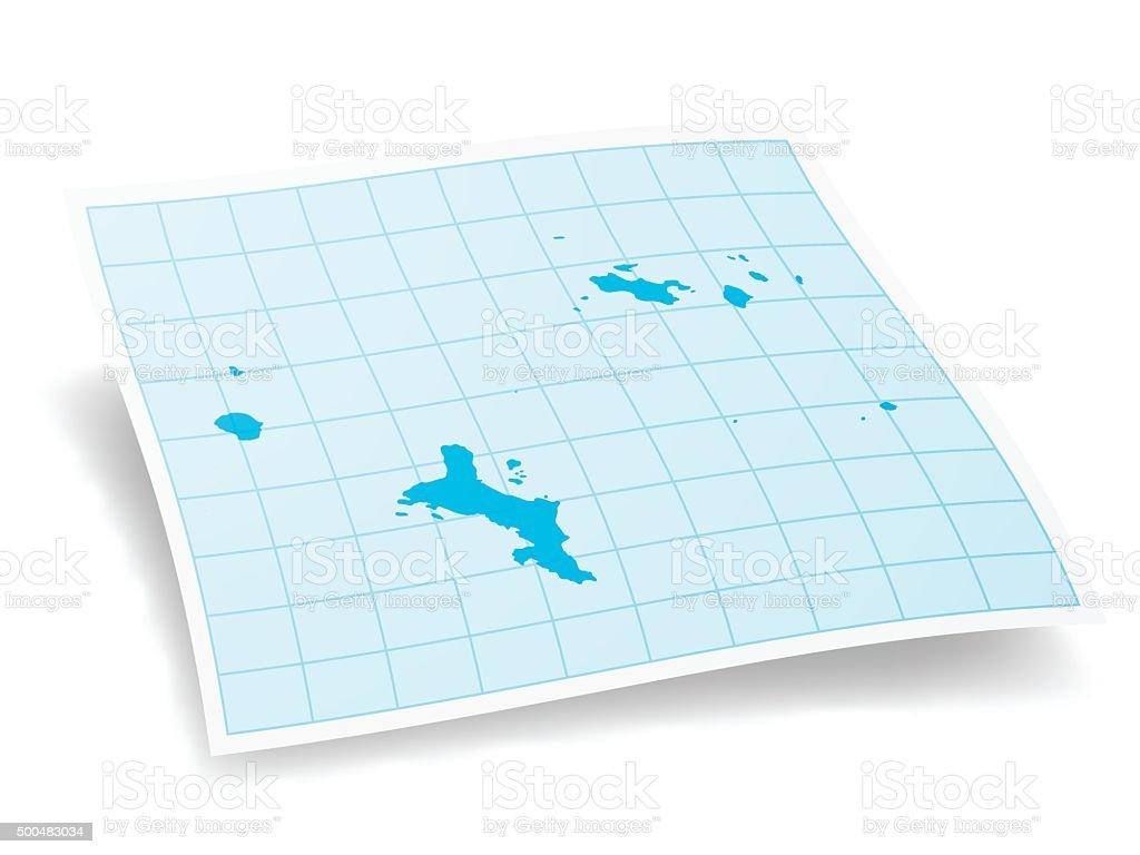 Seychelles Map isolated on white Background vector art illustration