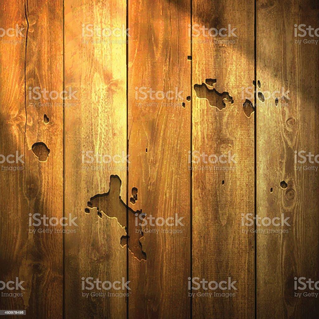 Seychelles Map on lit Wooden Background vector art illustration