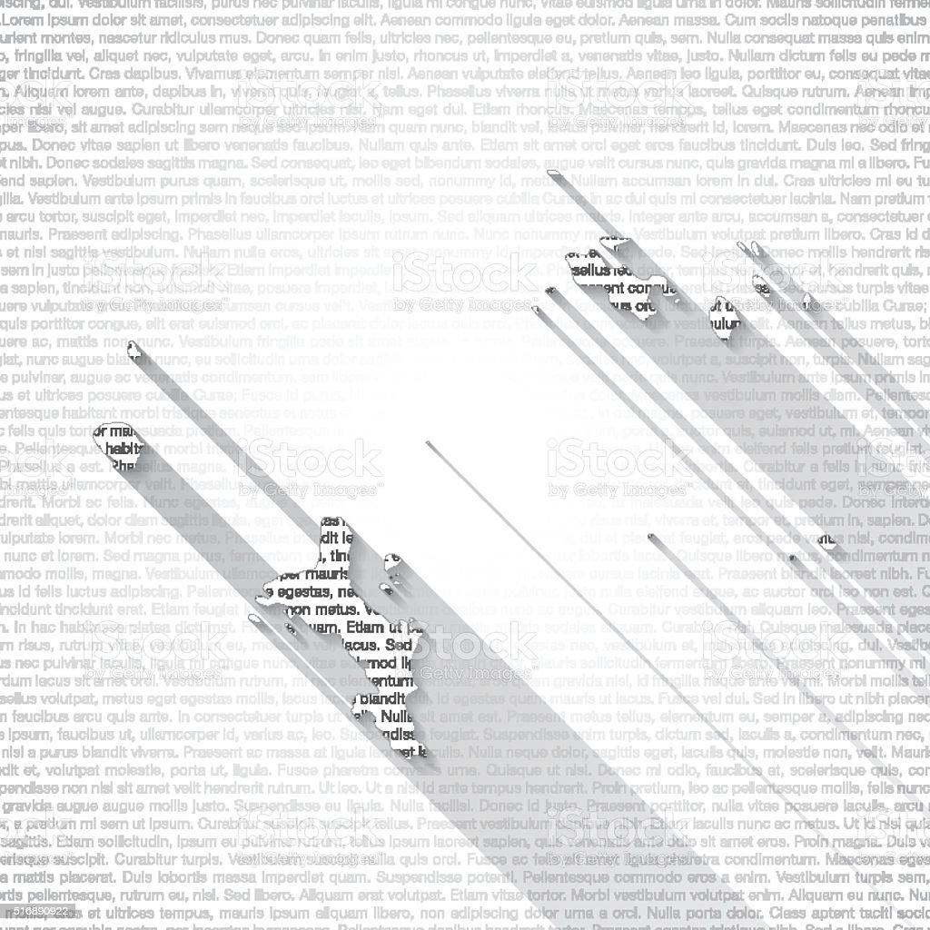 Seychelles Map on Text Background - Long Shadow vector art illustration