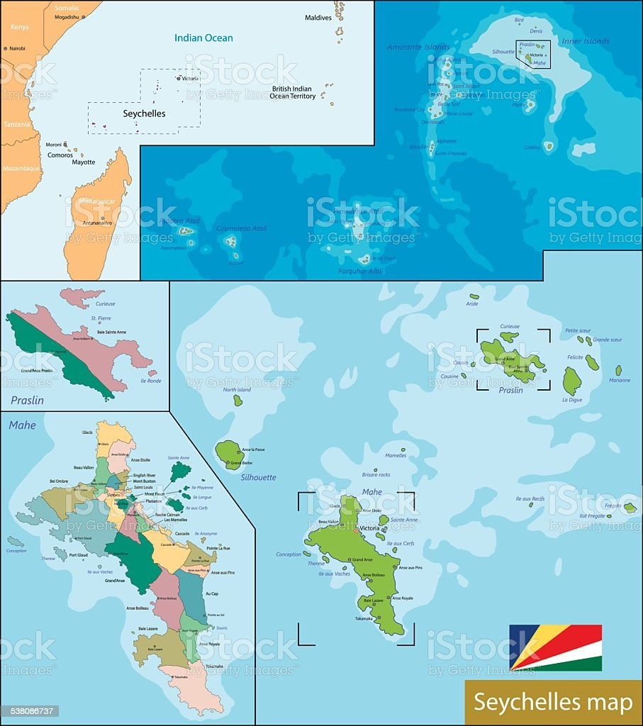 Ilustracion De Mapa De Seychelles Y Mas Vectores Libres De