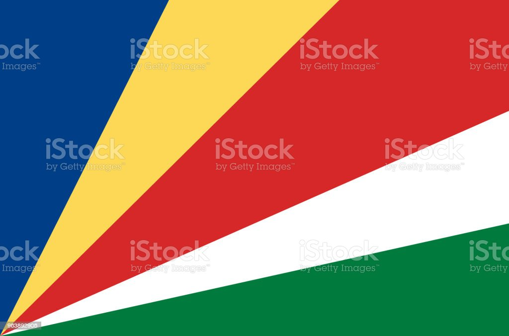 Seychelles national flag. Official flag of Seychelles accurate colors, true color - Royalty-free Accuracy stock vector