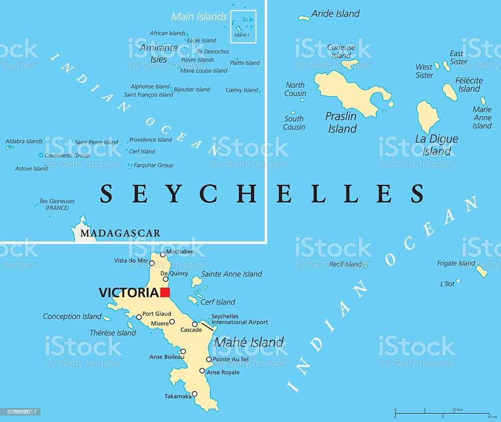 Seychelles Political Map Stock Vector Art More Images of Abstract