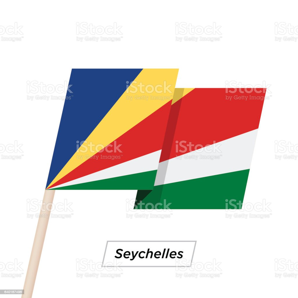 Seychelles Ribbon Waving Flag Isolated on White. Vector Illustration. vector art illustration
