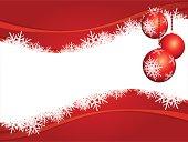 Sfondo natalizio con decorazioni