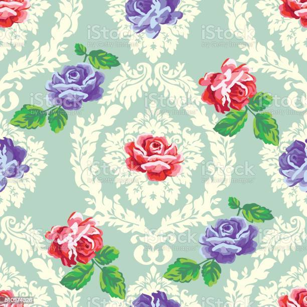 Shabby chic rose damask pattern vector seamless vintage floral vector id810974326?b=1&k=6&m=810974326&s=612x612&h=jrqjrjxe zylwgg1fuahdiaxgfbzpfshppuu7z74x04=