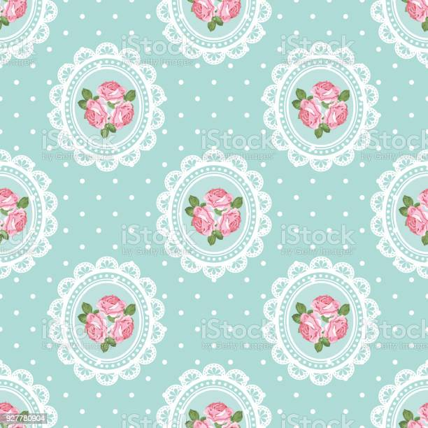 Shabby chic rose seamless pattern on polka dot background vector id927780904?b=1&k=6&m=927780904&s=612x612&h=bbcif0blhkipowwcjhxvjnbf4tue8jvqax2gnzmbzdy=