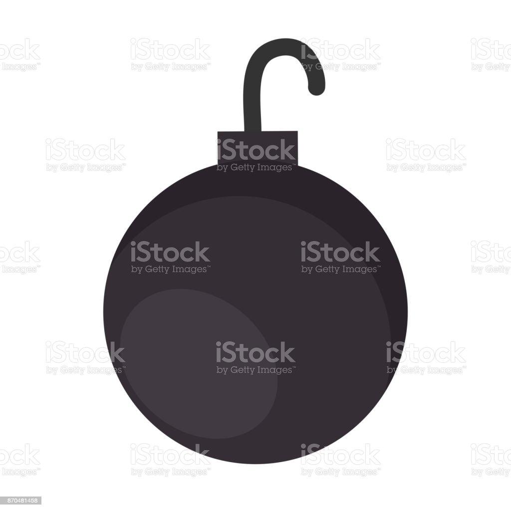 shackle ball isolated icon vector art illustration