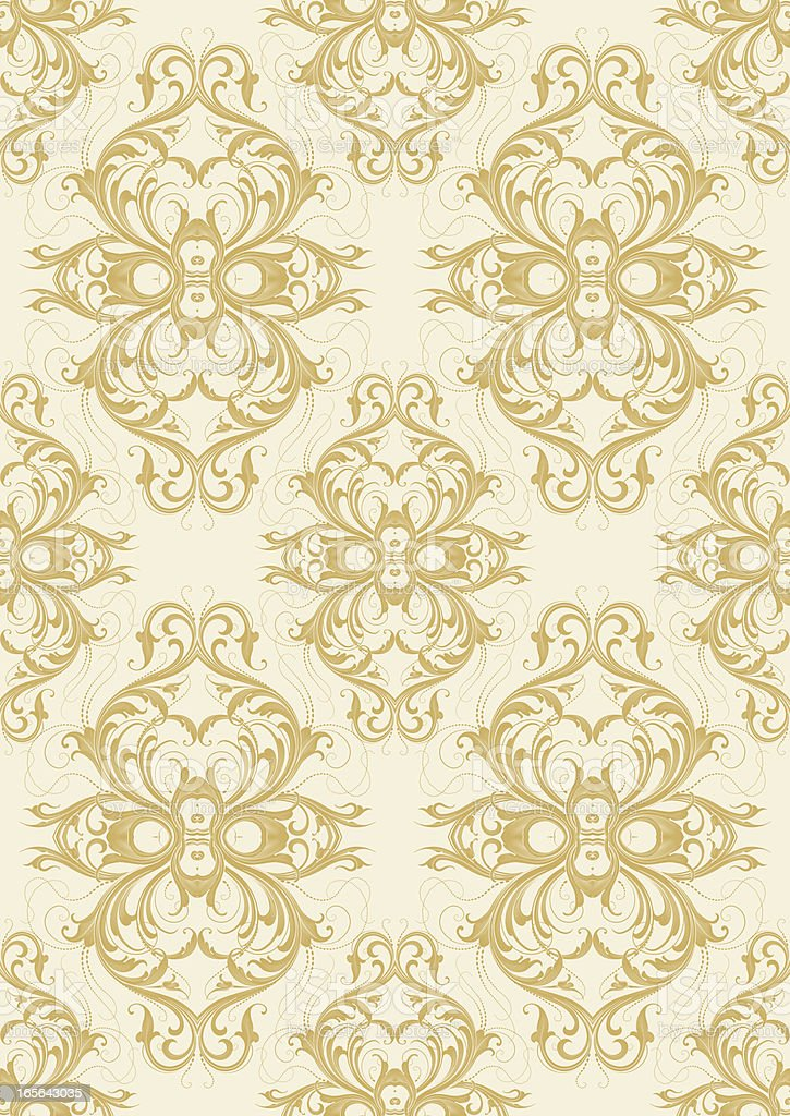 Shaded Arabesque Wallpaper - Seamless royalty-free stock vector art
