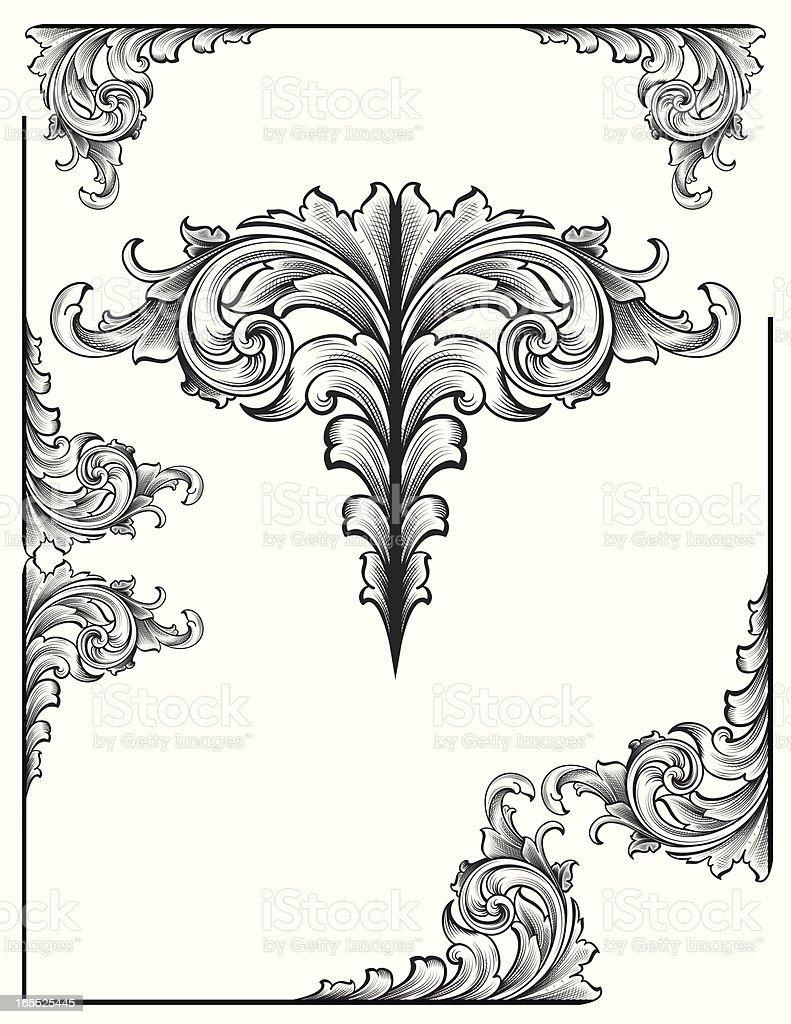 Shaded Victorian Set royalty-free stock vector art