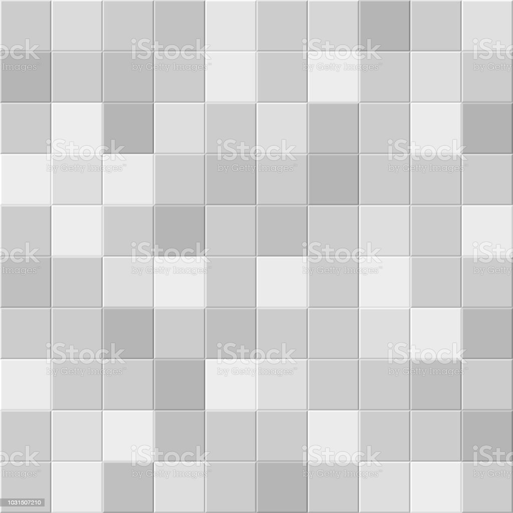 Shades Of Grey Ceramic Bathroom Or Kitchen Square Wall Tile Vector