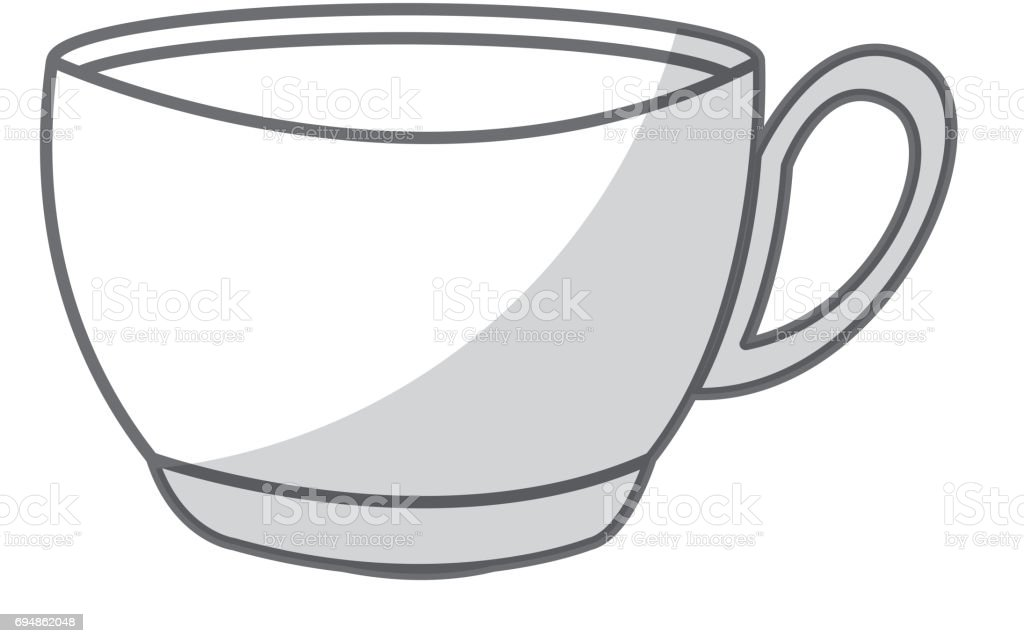 ilustração de desenho de xícara de café de sombra e mais banco de