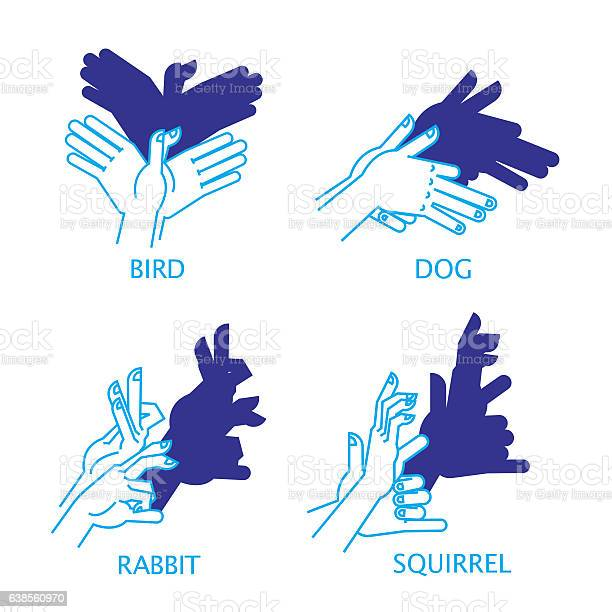 Shadow hand puppet set bird dog rabbit squirrel vector id638560970?b=1&k=6&m=638560970&s=612x612&h=x0wod9cjiul zsbyvh7ug0e2c uuxnlk0jwhpt8szqu=
