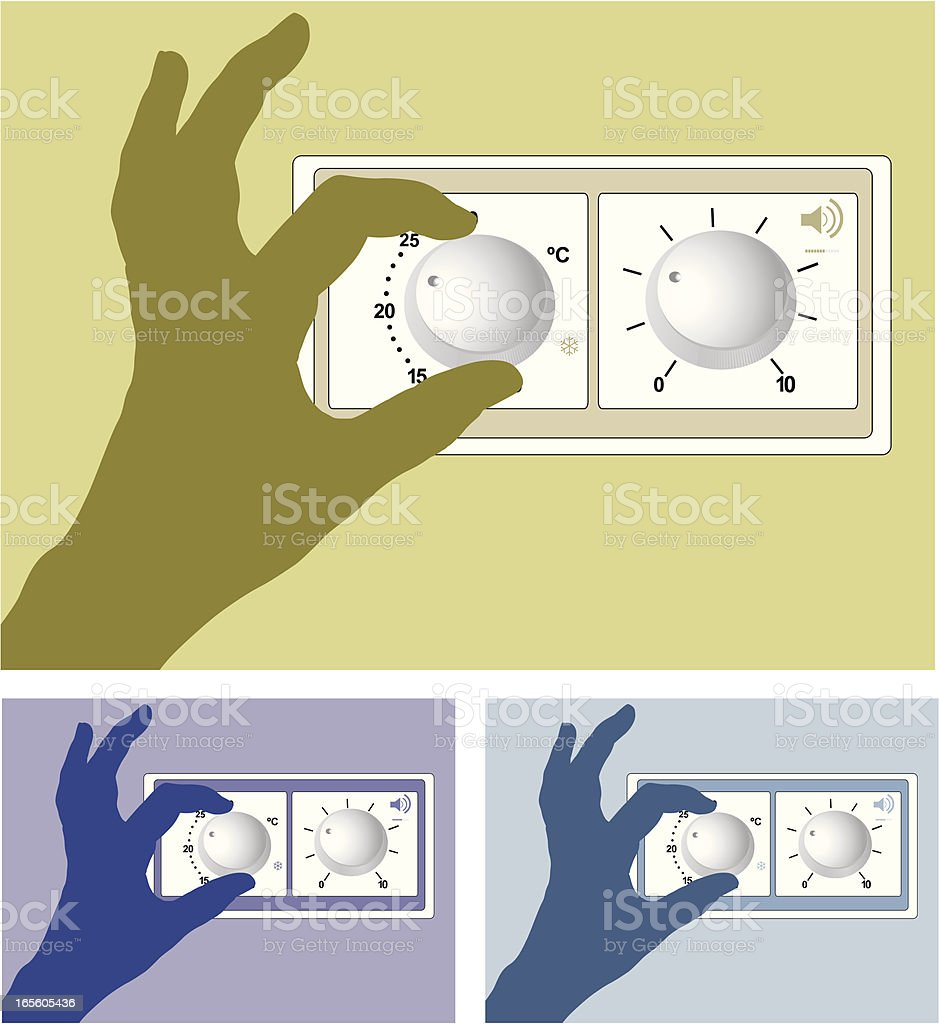 A shadow hand showing a regulator vector art illustration