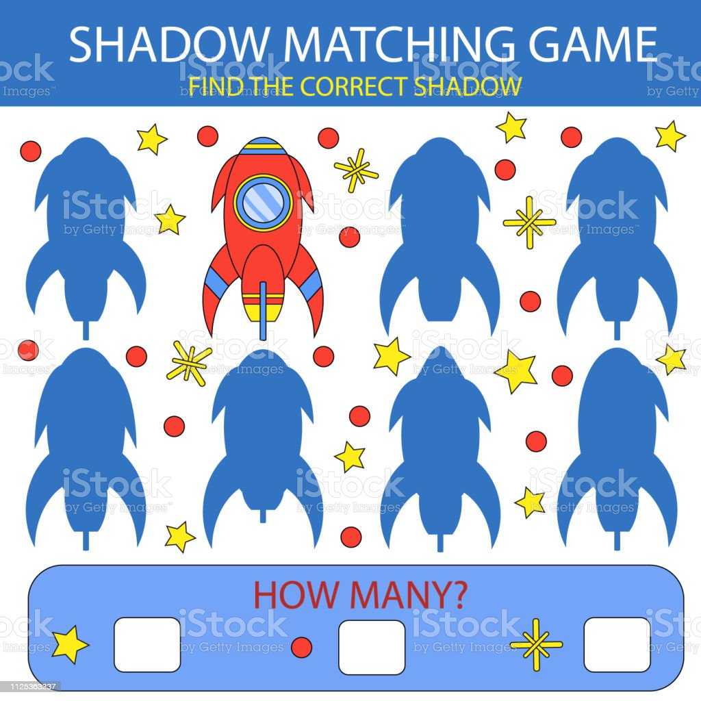 Shadow Matching Game Find The Correct Shadow Rocket Children Funny