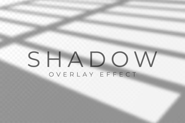 shadow overlay effect. transparent soft light and shadows from windows and jalouse. mockup of transparent shadow overlay effect and natural lightning - жалюзийный тип stock illustrations