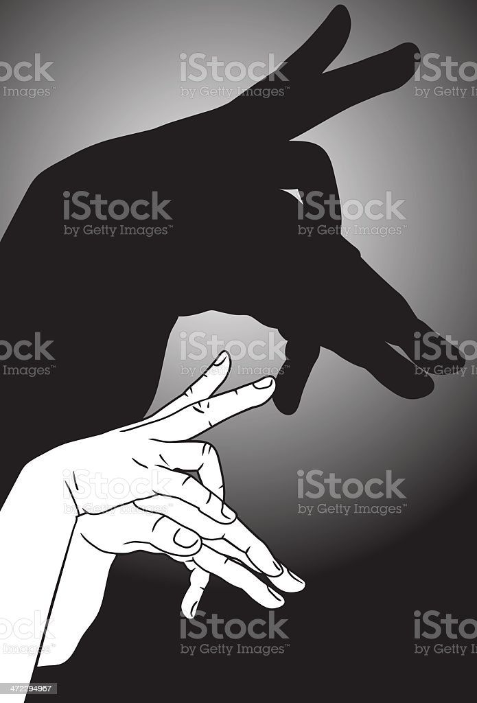 Shadow Puppet Goat royalty-free stock vector art