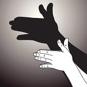Vector File of Hands Playing Shadow Puppet
