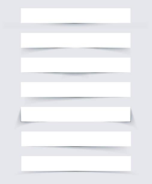 тени набор - тень stock illustrations