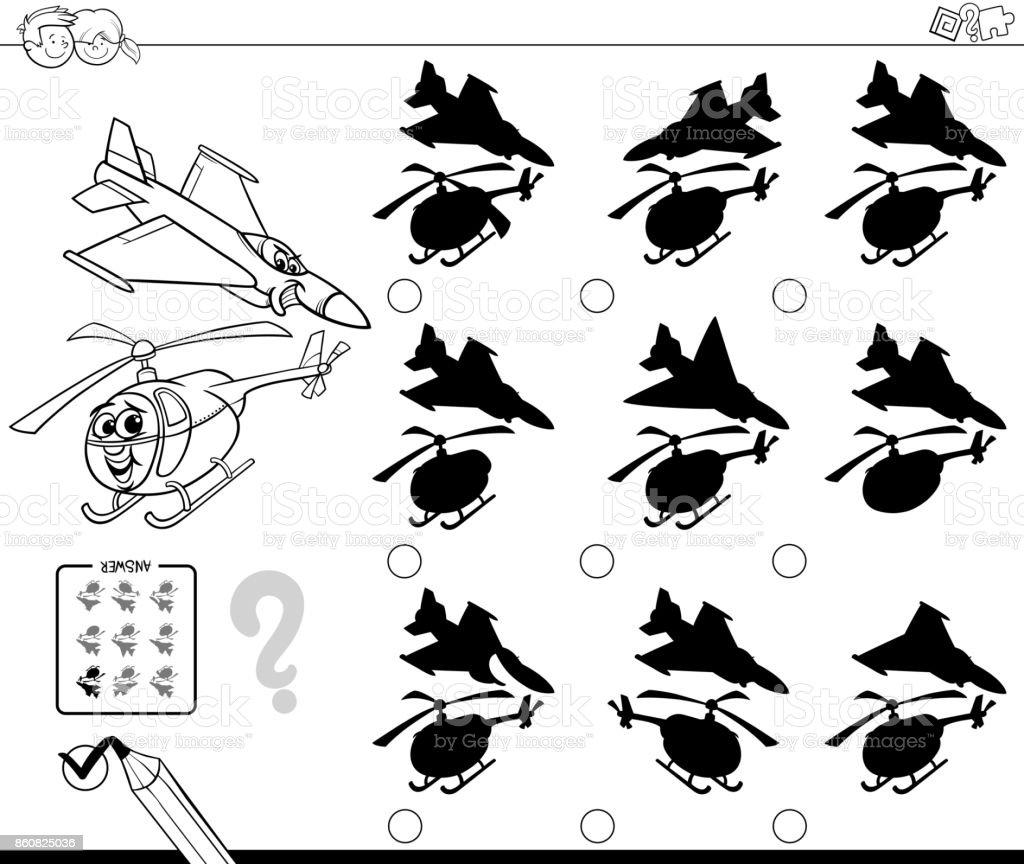 Ilustración de Sombras Con Libro Para Colorear De Aviones y más ...