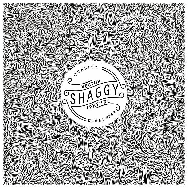 Shaggy texture Shaggy texture. Simple and quality monochrome pattern. Unique vector illustration.  Ready for print, web and other design animal hair stock illustrations