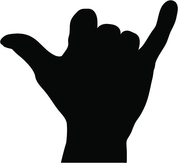 Shaka Hand Sign vector art illustration