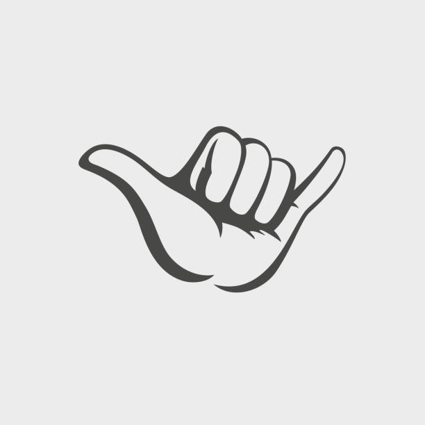Shaka hand vector sign. Hang loose symbol Shaka hand vector sign. Hang loose symbol surf stock illustrations