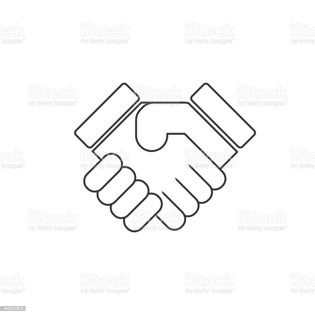 shake hands handshake vector icon stock vector art amp more