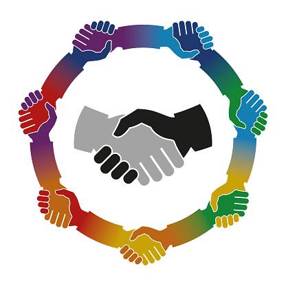 Shake Hands Mandala