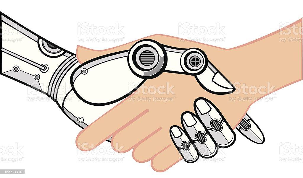 shake hands vector art illustration