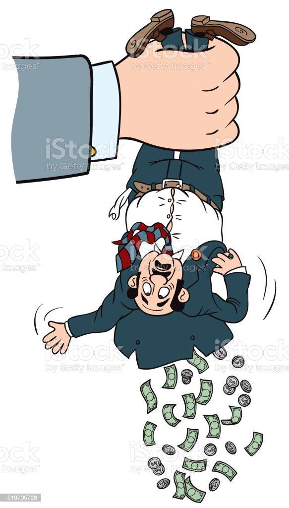 Shake To Obtain More Money vector art illustration