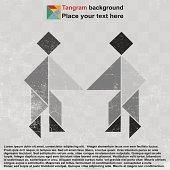 Shaking hand tangram