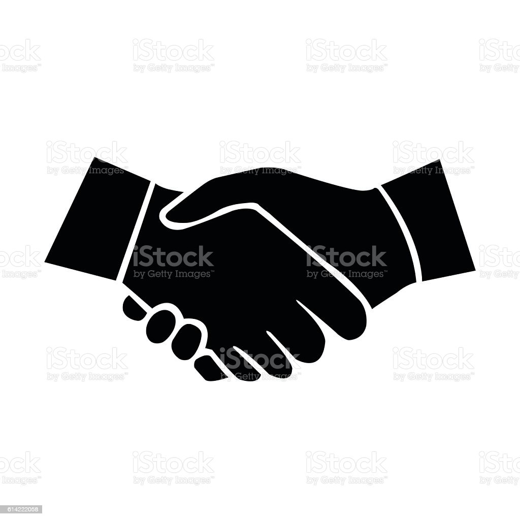 shaking hands stock vector art more images of agreement 614222058 rh istockphoto com shaking hands vector illustration shaking hands vector icon free