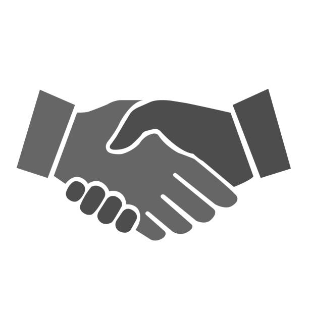 Shaking hands Shaking hands icon shaking stock illustrations