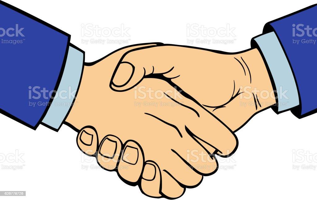 Shaking hands vector. vector art illustration