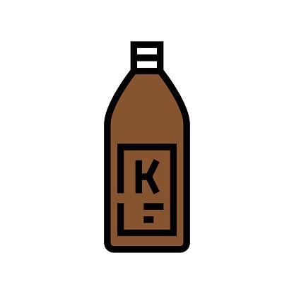 shampoo keratin bottle color icon vector illustration