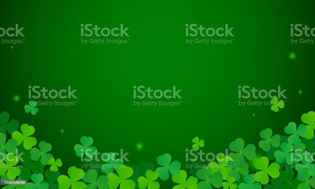 Shamrock Background Vector Illustration St Patricks Day