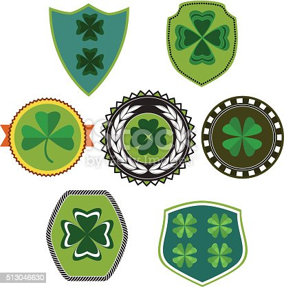 Shamrock badges