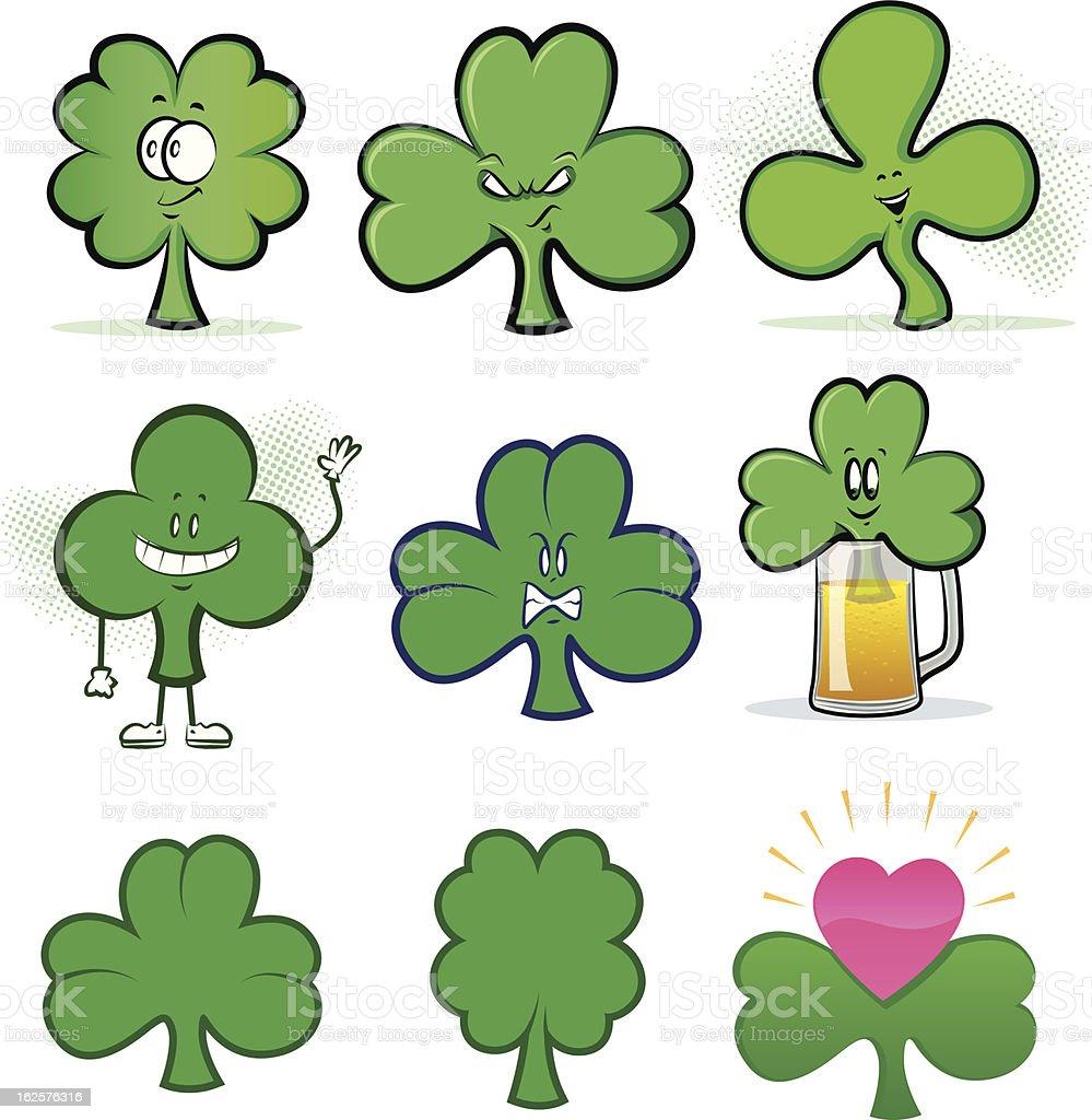 shamrock cartoon icons stock vector art 162576316 istock
