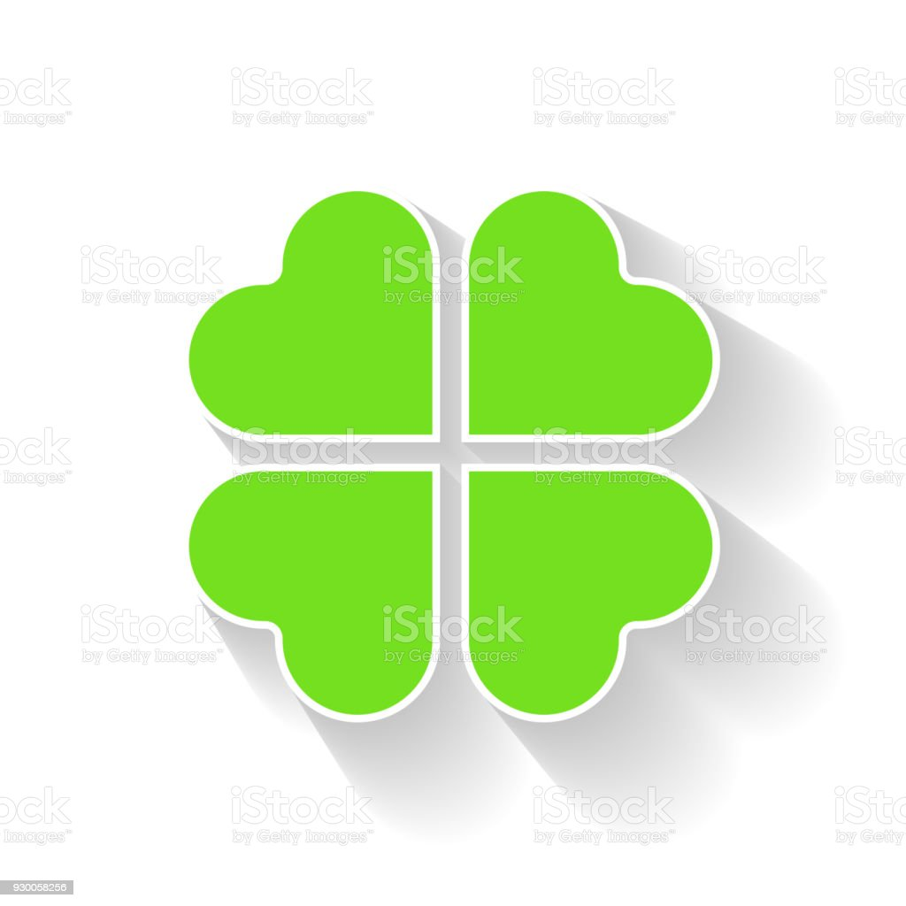 Shamrock Green Four Leaf Clover Icon Good Luck Theme And Saint