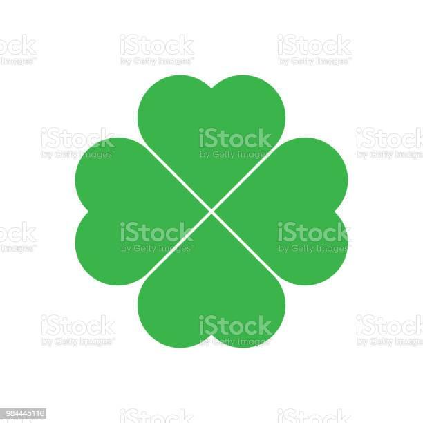 Shamrock green four leaf clover icon good luck theme design element vector id984445116?b=1&k=6&m=984445116&s=612x612&h=f8hafeb9yorapzj6gxmhu 3hyyf8pbtgqix3ipuljyw=