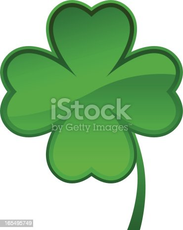 Shamrock Icon (eps, jpg and ai file in ZIP)