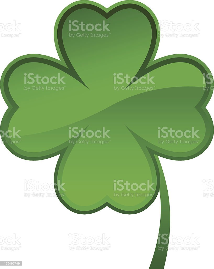 Shamrock Icon (eps, jpg and ai file in ZIP) vector art illustration