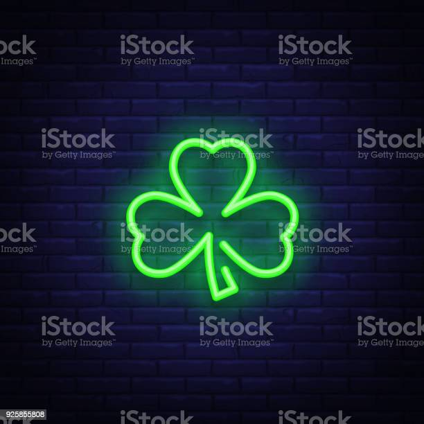 Shamrock is a neon sign neon icon light symbol web banner for your vector id925855808?b=1&k=6&m=925855808&s=612x612&h=j53aplgqwv4wwchdl qrfusefukj o7uymj3ceb3 3e=