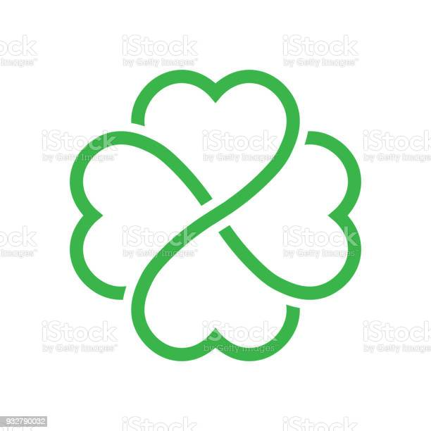 Shamrock silhouette green outline four leaf clover icon good luck vector id932790032?b=1&k=6&m=932790032&s=612x612&h=wo7u iux j8nfj7xgzbrltfhzyjxdnzxqoepcsvv6o4=