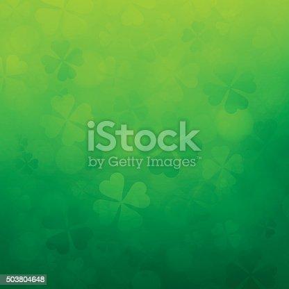 istock Shamrock St. Patrick's Day Background 503804648