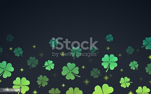 istock Shamrock St. Patrick's Day Clover Border 1296393496