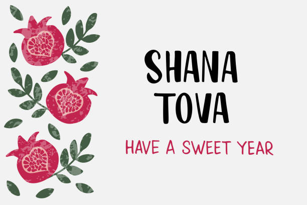 shana tova lettering. jewish holiday. - rosh hashana stock illustrations