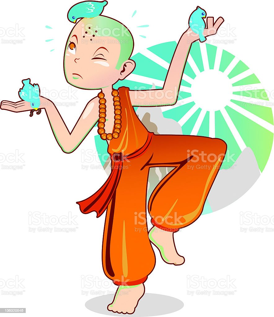 Shaolin Monk royalty-free stock vector art