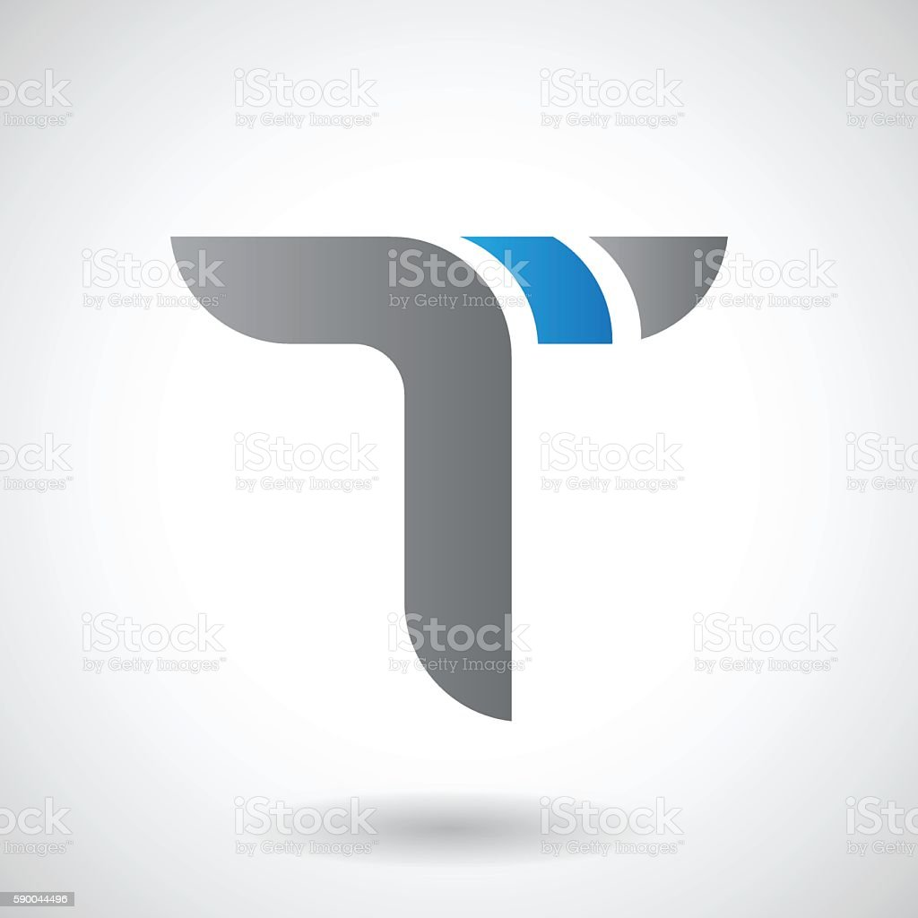 Shape And Icon Of Letter T Vector Illustration Stock Vector Art