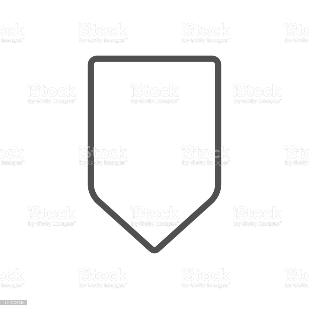 Shape Badge Tag Icon Stock Vector Art & More Images of Badge